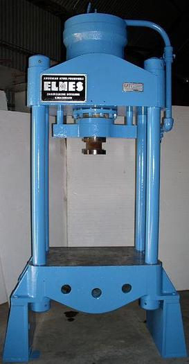 Used 200 Ton Elmes Hydraulic Press; Down-Acting; 4 Post;