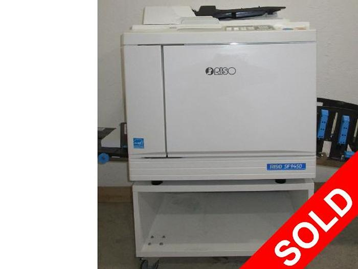 Riso SF 9450 150 PPM Digital Duplicator with Network Print