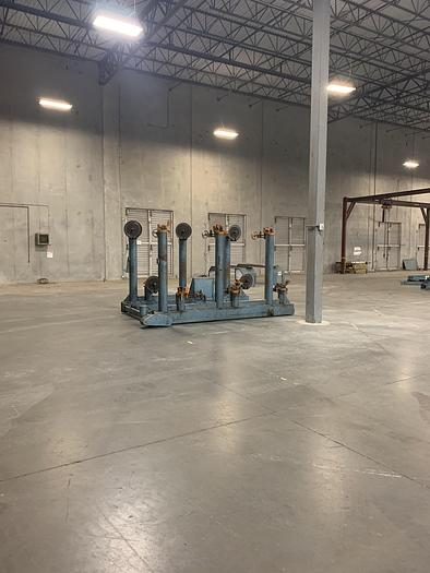 Used SIX POSITION SHAFTED UNWIND STANDS (TWO AVAILABLE)