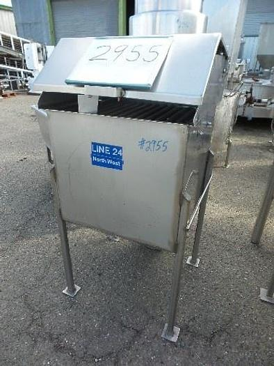 Used Stainless Steel Ingredient Feed Hopper Tank #2955
