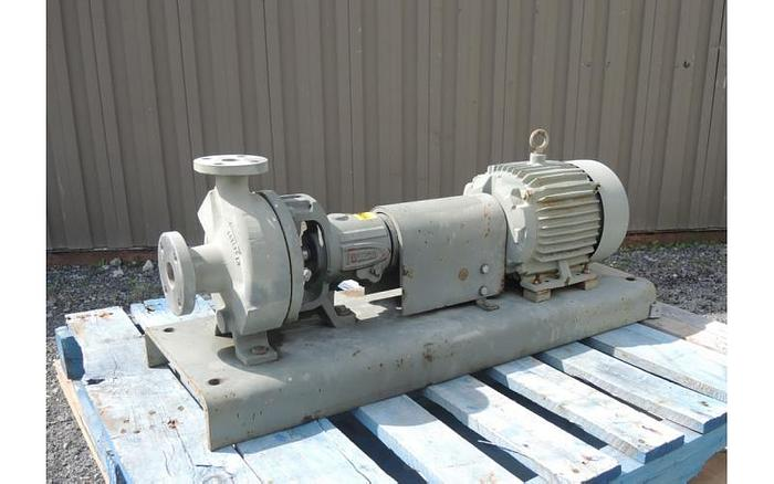 "USED CENTRIFUGAL PUMP, 1.5"" X 1"" INLET & OUTLET, CAST STAINLESS"