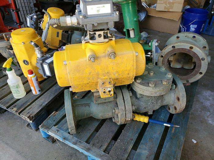 Used Emerson Actuator Valve QS0600.UA04A.27DD10 With Ball Valve and Valve TOP