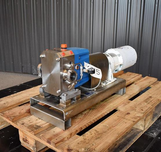 Used USED VIKING ROTARY LOBE PUMP, MODEL S2S, STAINLESS STEEL, JACKETED