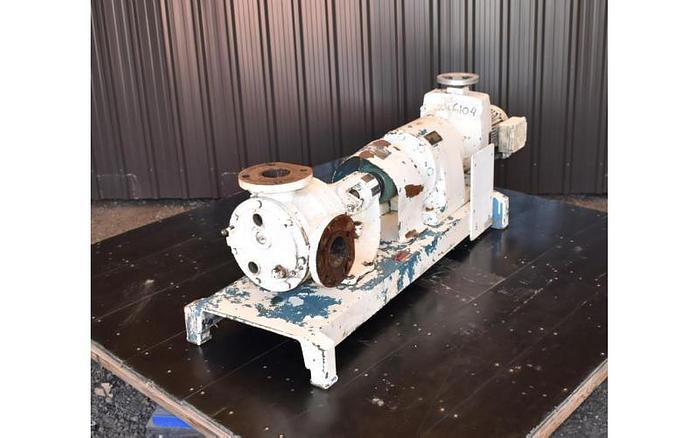 """USED VIKING GEAR PUMP, 3"""" X 3"""" INLET & OUTLET, CAST IRON, JACKETED"""