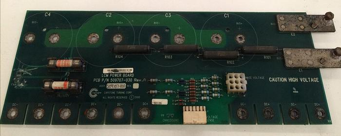 Used Capstone Turbine LCM Power Board for C60 Microturbine (P/N 509707-030)