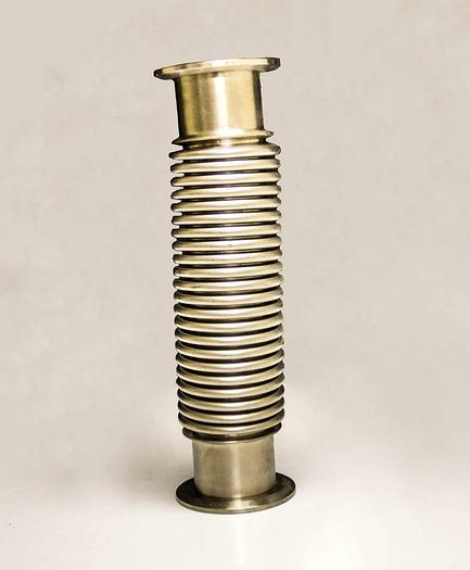 "Used Flexible Stainless Steel Hose Vacuum Tube 3"" OD 10"" Length (3709)"