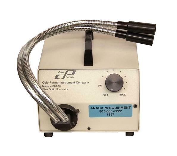 Used Cole Parmer 41500-50 Fiber Optic Illuminator w/ Dual Fiber Optics USED (7357)R