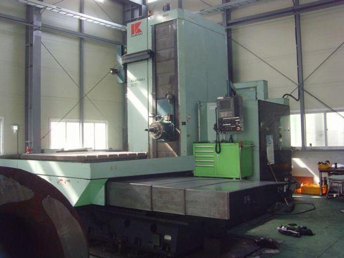 """Used 5"""" KURAKI CNC Horizontal Boring Mill, KBT-13A, X-118"""", Y-78"""", 63"""" x 70"""" R/T, Fanuc 16M, ID17429"""
