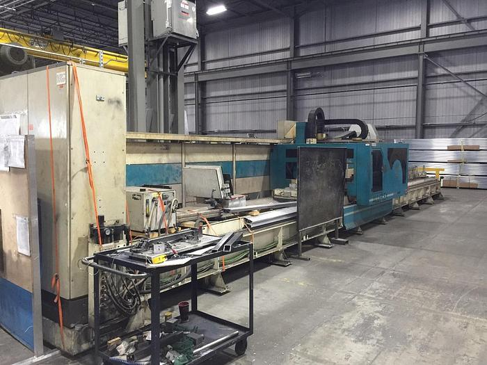 "Used 21.65"" x 347"", MUBEA SYSTEMS, ALU-FLEX, 4-AXIS, GANTRY TYPE CNC MACHINING CENTER"