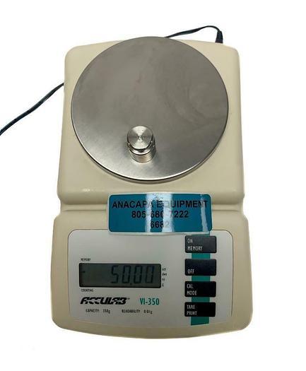 Used ACCULAB VI-350 Digital Balance Capacity 350g Readability 0.01g w/ Adapter(6682)W
