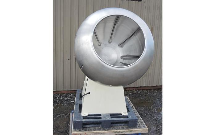 "USED COATING PAN, 22"" DIAMETER X 36"" DEEP, STAINLESS STEEL, O'HARA"