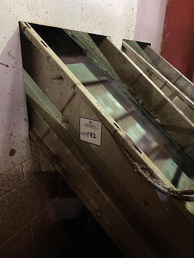 Used Stainless Steel Elevated Conveyor 3.5m L 0.7m W