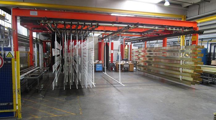 Used Powder Coating Line for Aluminum Profile Extrusions: EX-484