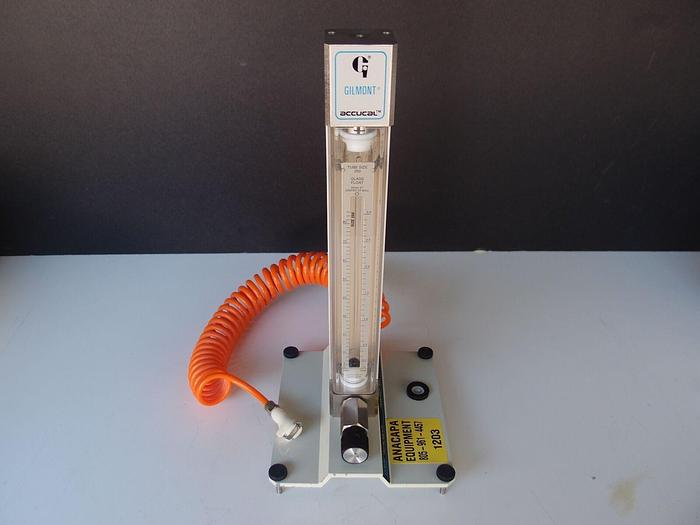Used Gilmont Flowmeter Accucal Base F-4001 with GF-4540 Flow Meter (1203)