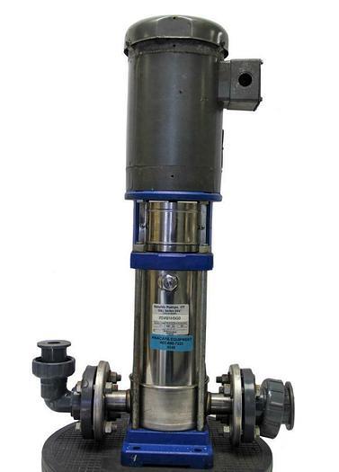 Used Goulds Pump 2SVB1H5G0 Vertical Multistage & Baldor Motor VM3559 3450 RPM (8048)W