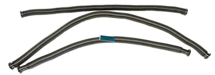 "Used KF25 Corrugated Flex Hose Bellows Stainless Steel Length 36-48"" Lot of 3 (8610)W"