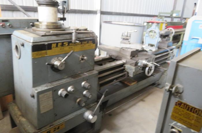 "Hes Engine Lathe 24"" Swing x 84"" Centers 24"