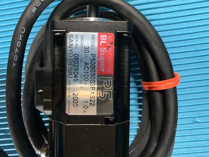 Used Sanyo Denki AC Servomotor BL Super P50B03003PXS22