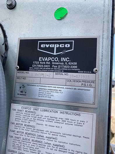 2019 EVAPCO ATWB-4 3P12-Z Closed Type Cooling Tower
