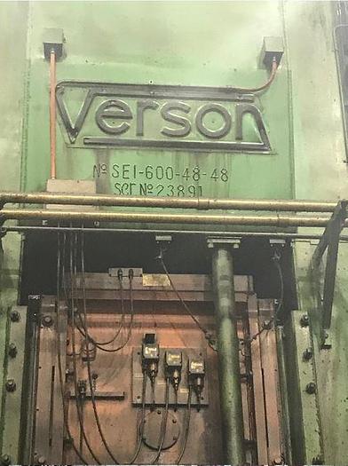 600 TON VERSON STRAIGHT SINGLE CRANK PRESS SE1-600-48-48