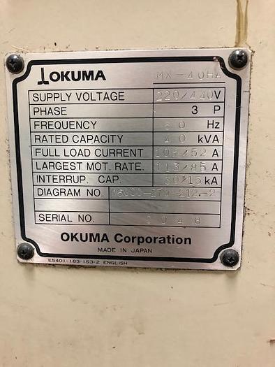 1998 OKUMA MX40HA