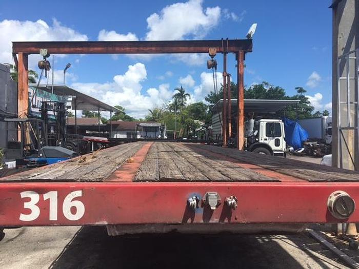 Used 1996 FRUEHAUF FLAT BED TRAILERS WITH PIGGYBACK HOOK UP 45'