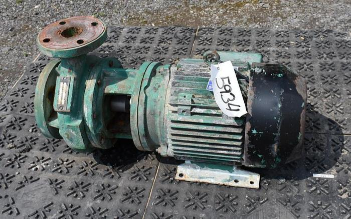 """USED CENTRIFUGAL PUMP, 3"""" X 2"""" INLET & OUTLET, CARBON STEEL"""