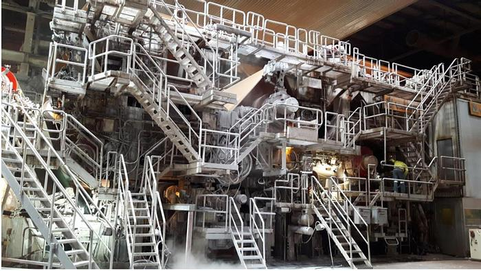"""Used 8.35M (334"""") VALMET PAPER MACHINE REBUILT 1990 AND 2004 (WITH SHOE PRESS)"""