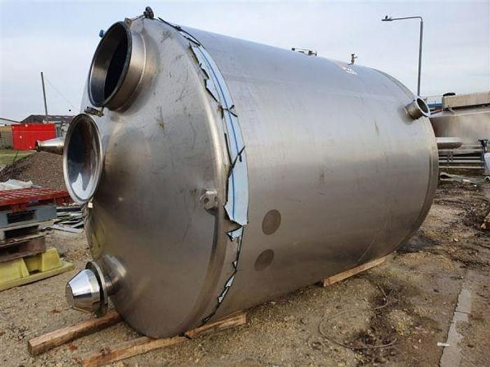 Used 9,000 Litre Stainless Steel Single Skin Tank