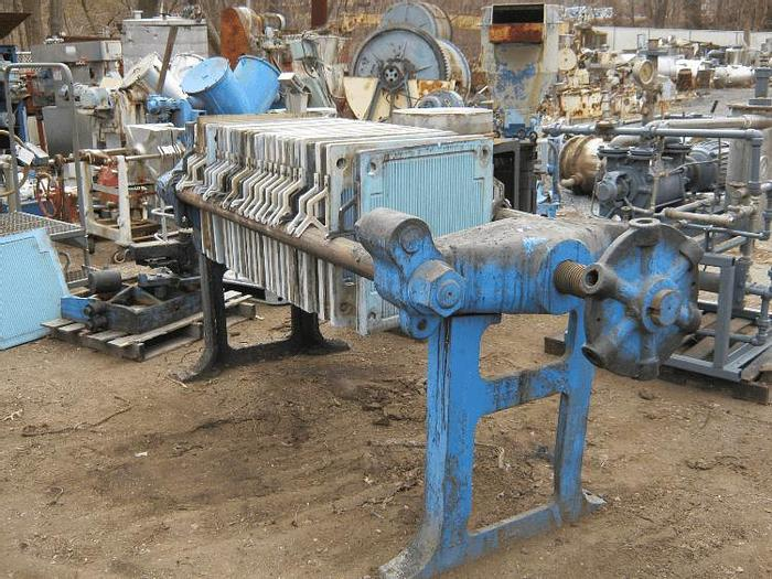 Used 4 CU. FT. SPERRY FILTER PRESS – PLATE & FRAME – POLYPRO