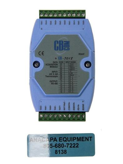 Used CB Com CB-7018 8-Channel Voltage and Thermocouple Data Acquisition Module (8138)