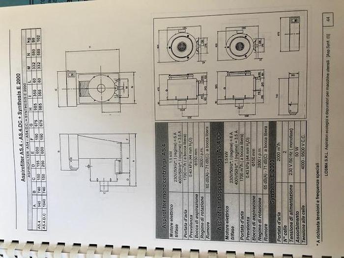 Aspiratore centrifugo con filtro statico LOSMA