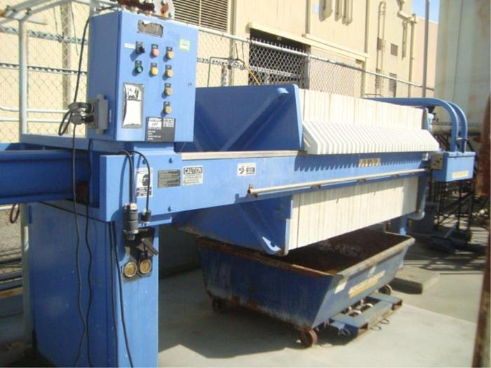 Used 30 CU. FT. US FILTER INDUSTRIAL WATER SYSTEMS FILTER PRESS - 1000 mm - CGR (#9936)