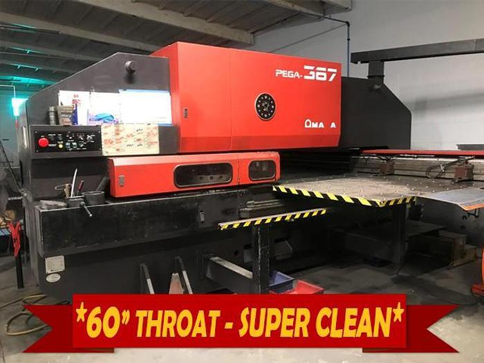 Used 1989 33 Ton Amada Pega 367 CNC Turret Punch