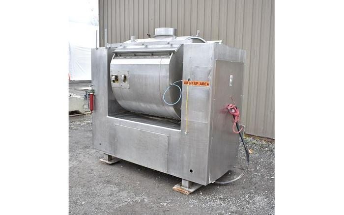 USED ROLLER BAR DOUGH MIXER, MAGNA, MODEL: 500H 202, 1000 LB CAPACITY, STAINLESS STEEL, JACKETED