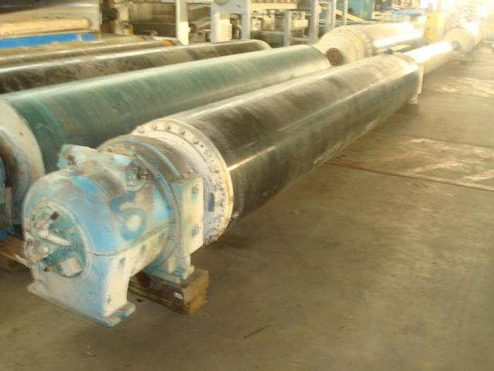 "Used SUCTION PRESS ROLL  28"" (711MM) DIA  X 189"" (4800MM) FACE BLACK CLAWSON GL&V"