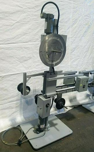 Used Motorized Stock Reel Feed Payoff Coil Decoiler Multi Spindle with controller