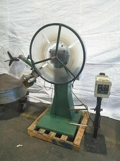 Used PA Industries Motorized Stock Material Payoff Reel Feed to Press