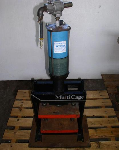 Used Used MultiCyl MultiCage Model 12MCP1215XL Pneumatic Press