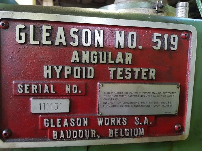 1980 519 Gleason Universal Angular Hypoid Bevel Gear Tester