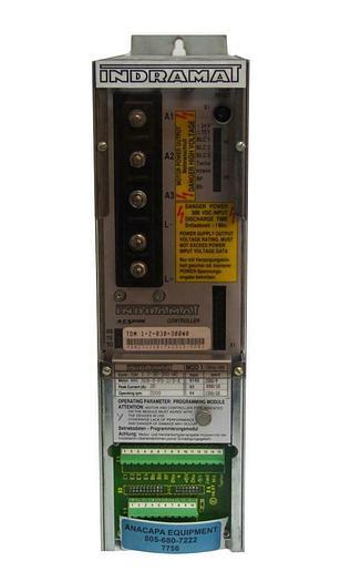 Used Indramat TDM 1.2-030-300W0 A.C. Servo Controller W/ Mod 1/ 10014-008 (7756)W