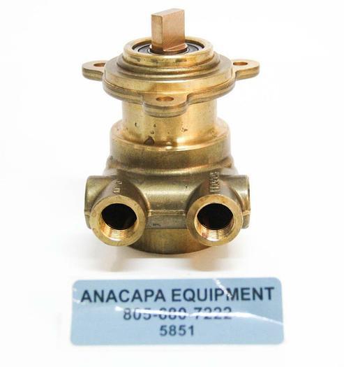 "Used Haskris 102L100F11XX Brass Procon Rotary Vane Pump 3/8"" NPT NEW (5851)"