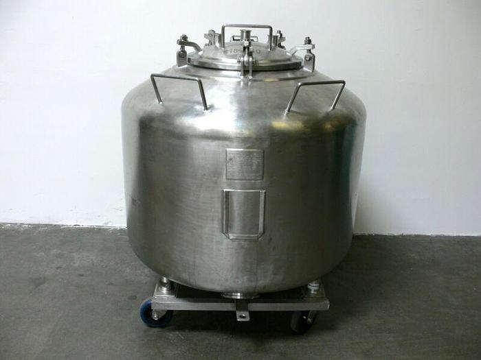 Used Letsch 720 Liter / 190 Gallon  Stainless Steel Tank / Pressure Vessel 25 PSI