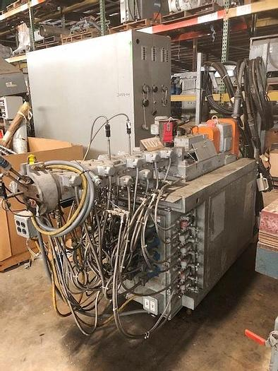 Used Werner & Pfleiderer 30mm 24:1 co-rotating twin screw extruder