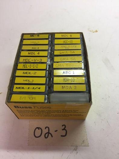 Used Pack of 20 different AGW Buss Fuses Missing 14 Fuses 86 Total Pieces