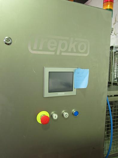 TREPKO 211KS ROTARY CUP/POT FILLING & CLOSING MACHINE