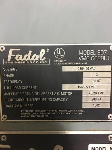 1993 FADAL 6030 VERTICAL MACHINING CENTER