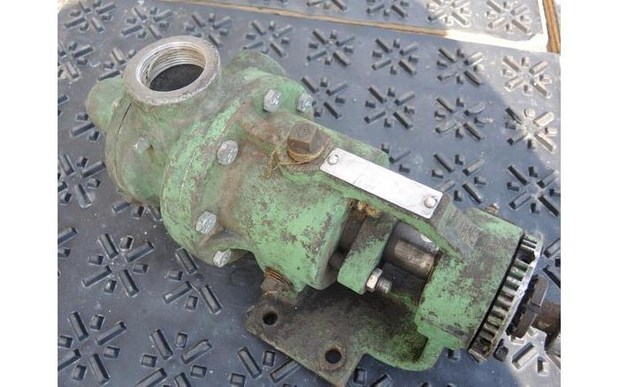 """USED GEAR PUMP, 2"""" X 2"""" INLET & OUTLET, CAST IRON"""