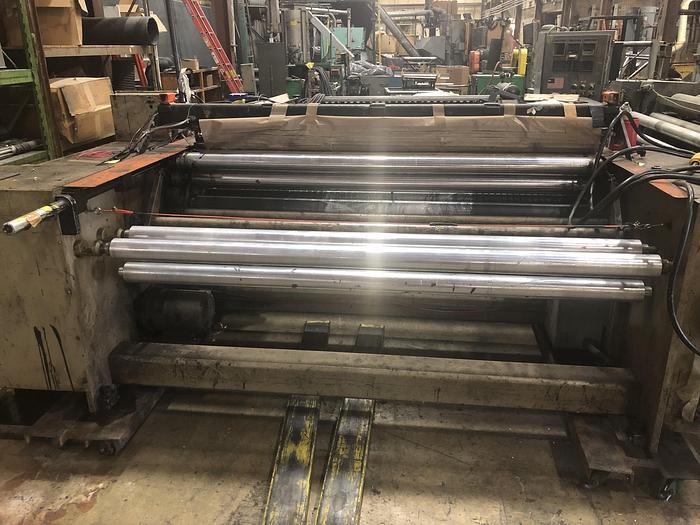 "Used 70"" Gloucester 418 Bottom Seal Bag Machine  Stock # 4749-0032"
