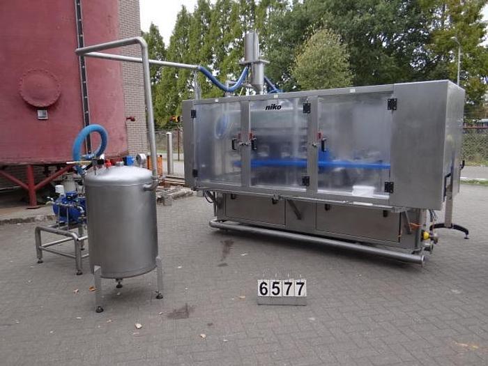 Gebraucht Vakuumfüllmaschine zum Dosieren von Aufguß in Konservengläser